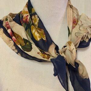 ECHO Square Silk Scarf Floral Print